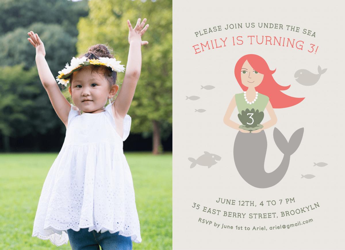 Mermaid Birthday Card