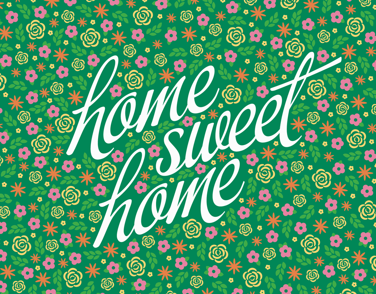 Floral Home Sweet Home Card