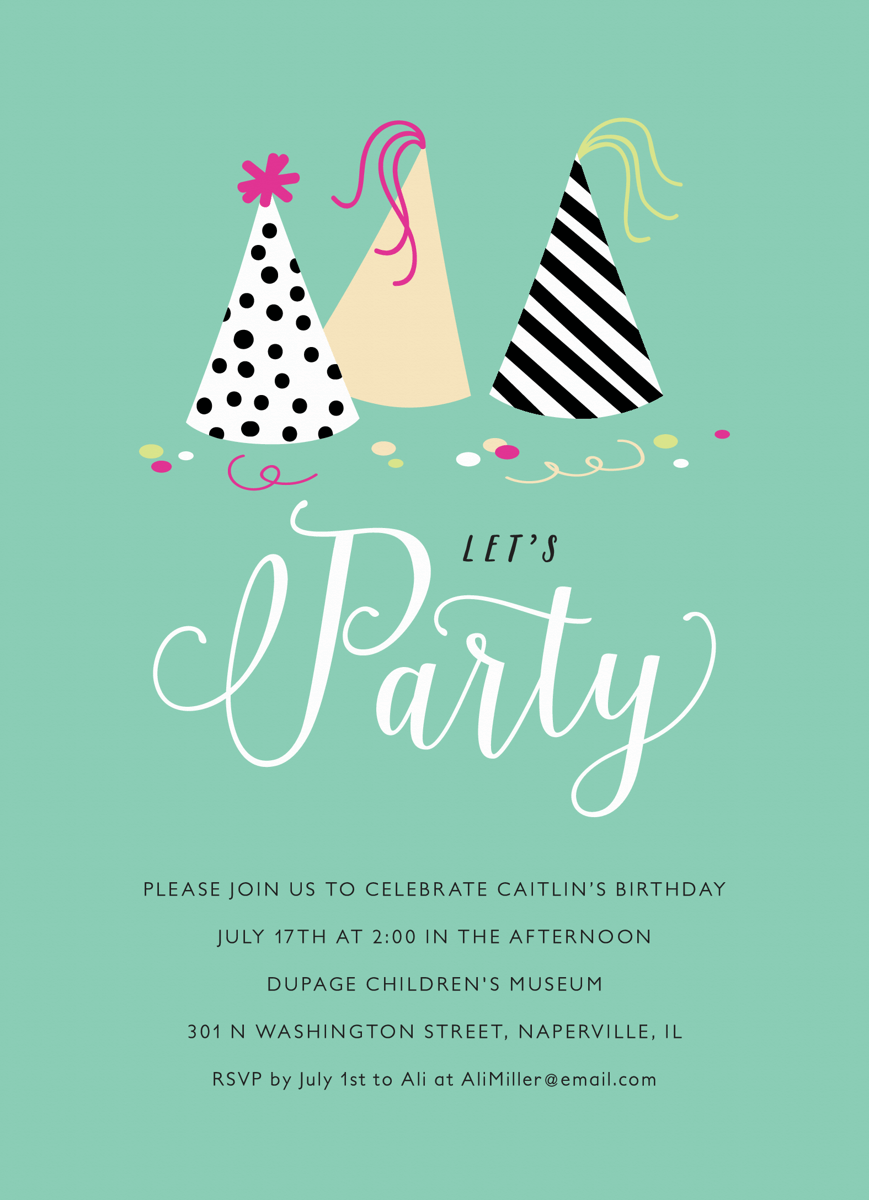 Party Hats Invite
