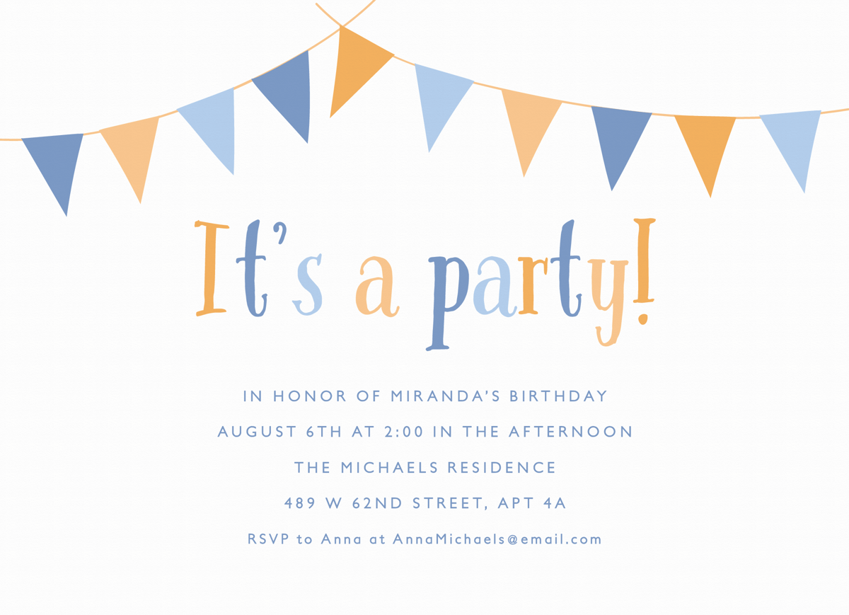 Party Banner Invite