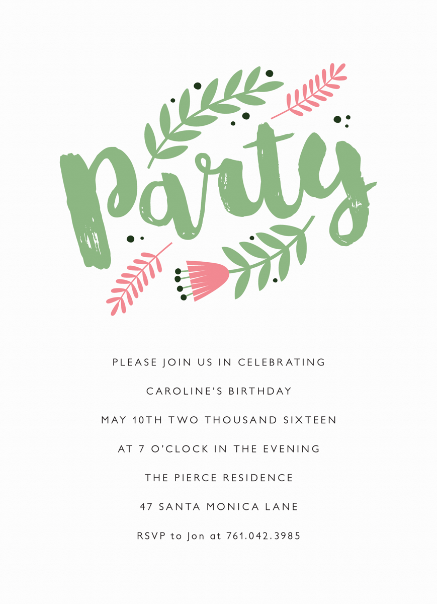 Pink Floral Invite