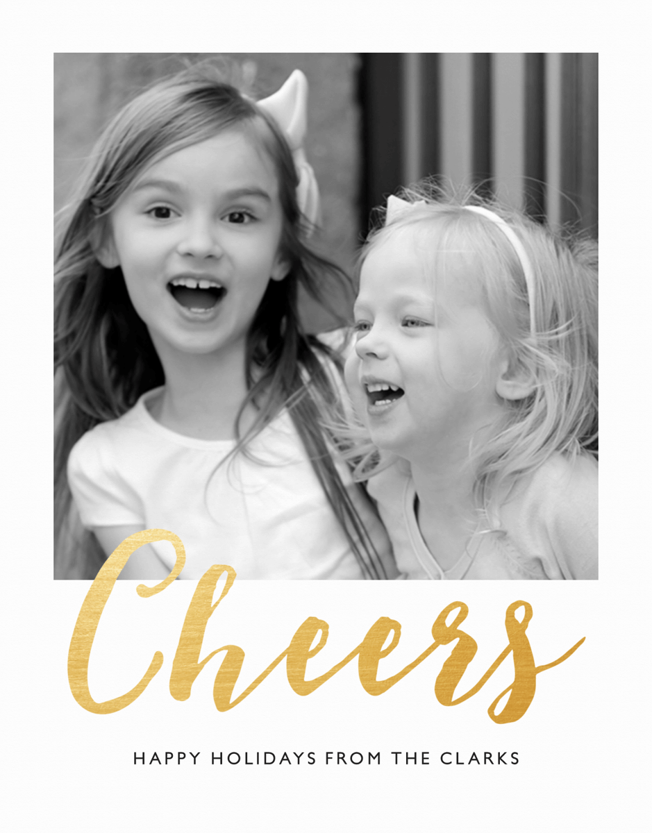 Gold Cheers Card