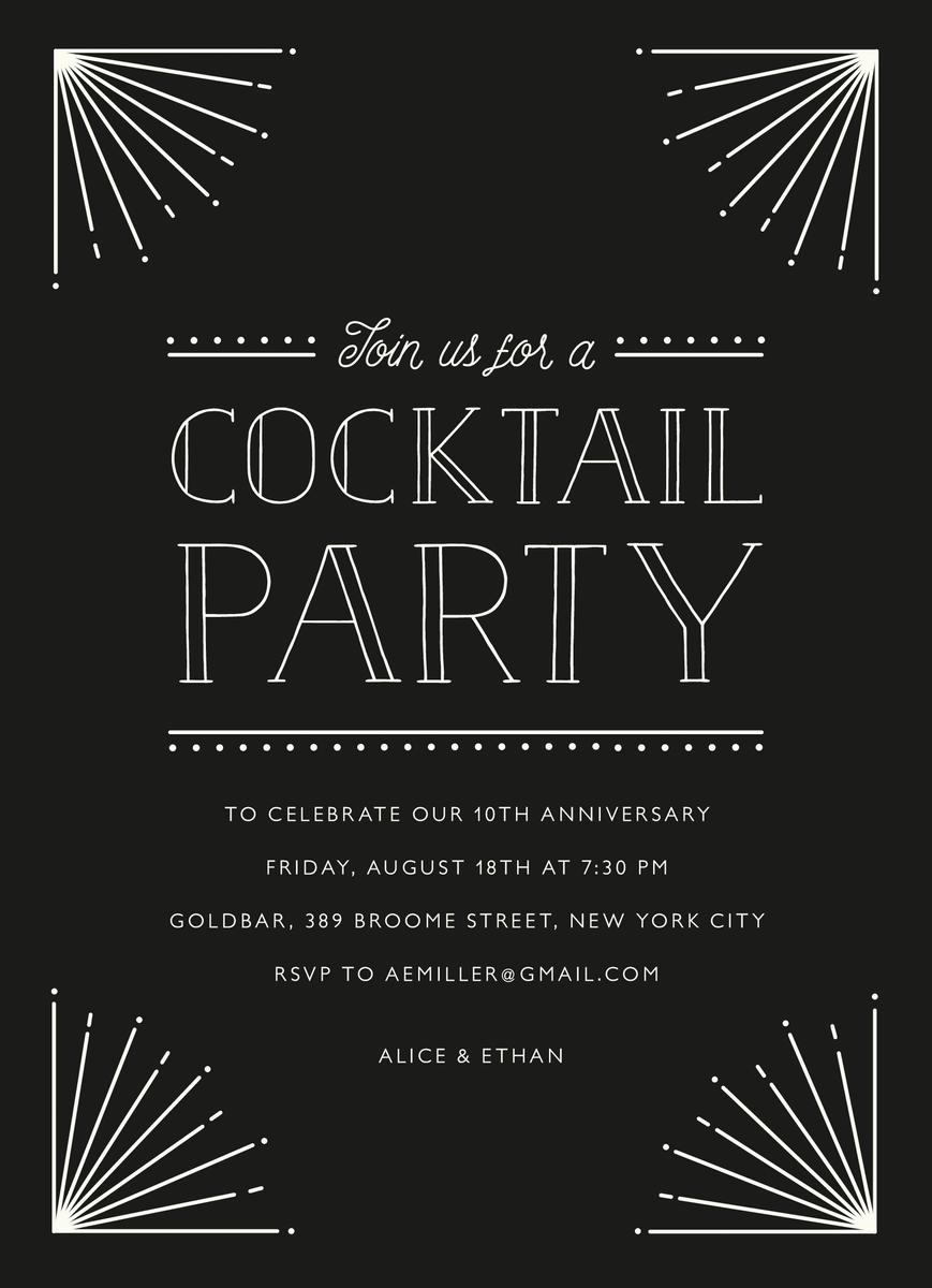 Art Deco Cocktail Party