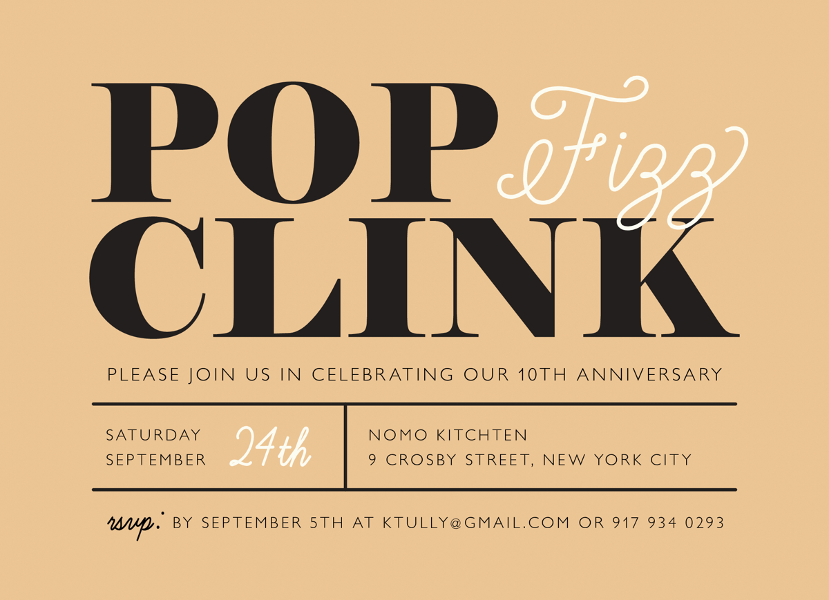 Pop Fizz Clink Invite