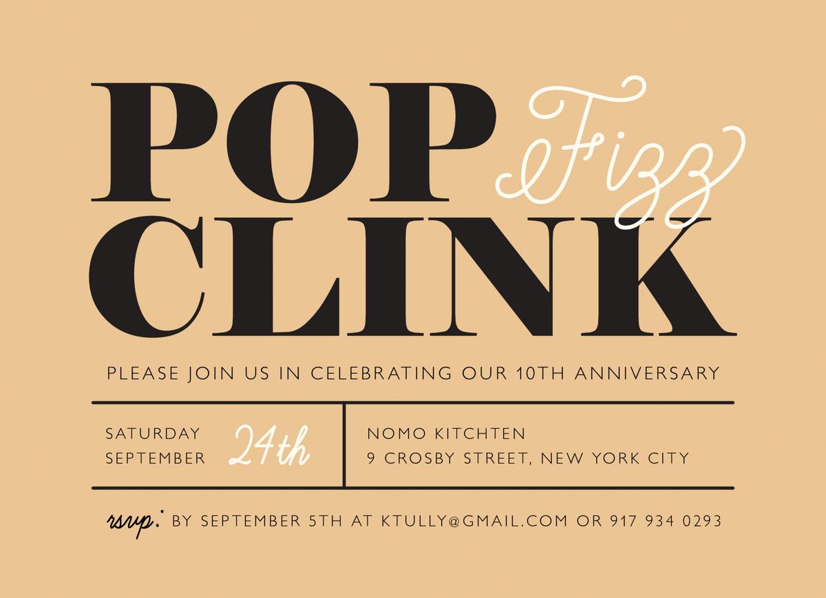 Pop Fizz Clink Invite