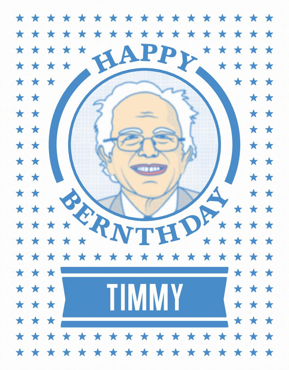 Bernie Sanders Birthday Card
