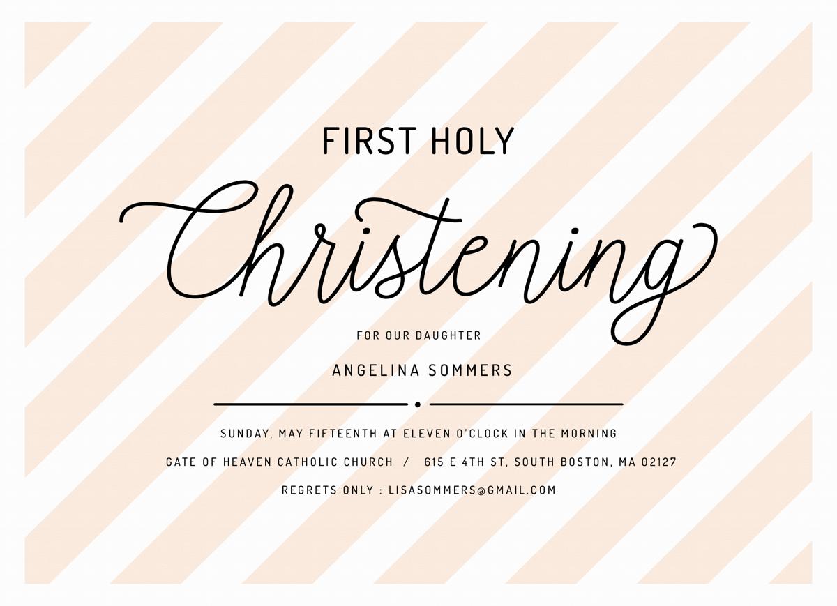 Christening Lettering