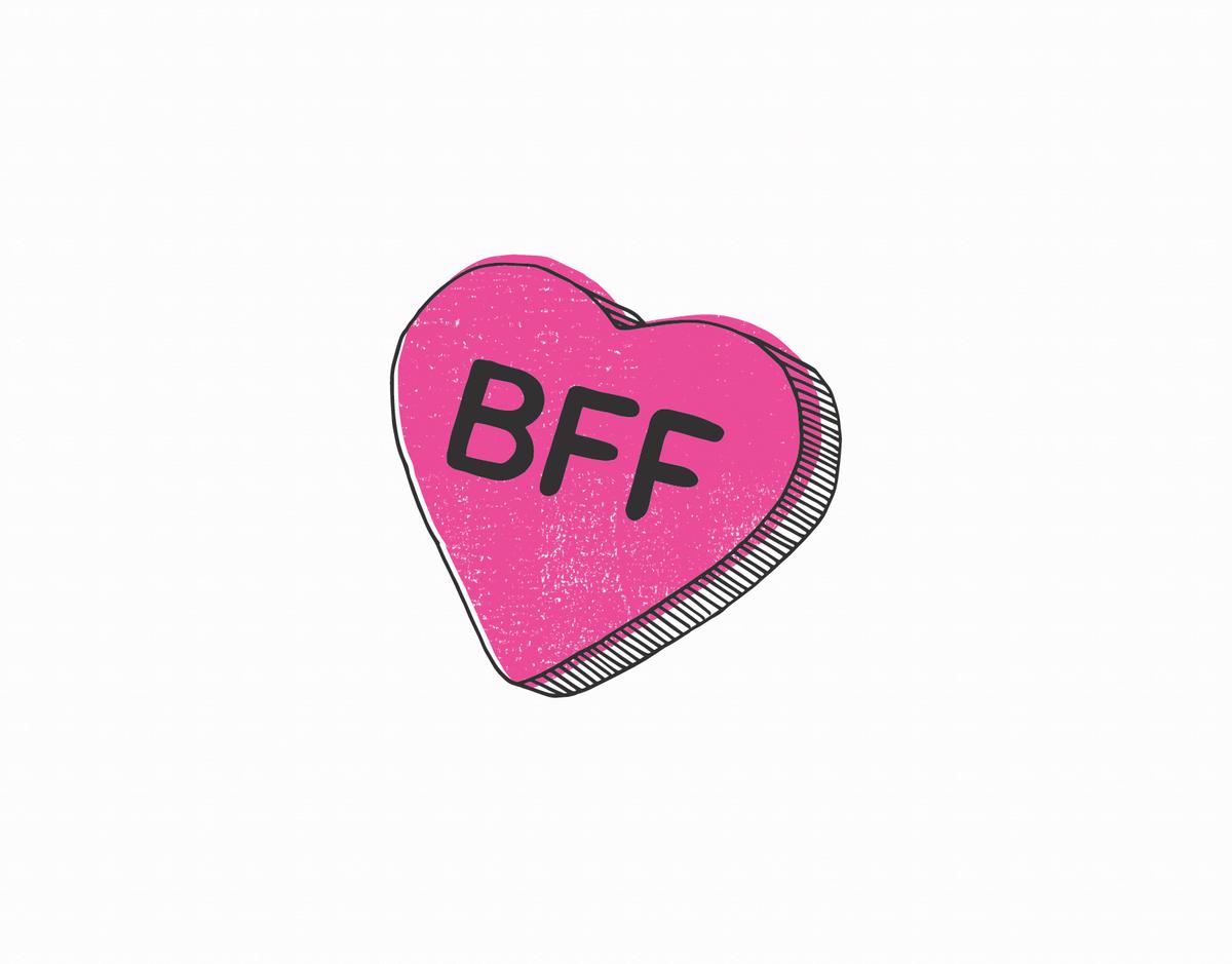 BFF Candy Heart Love Card