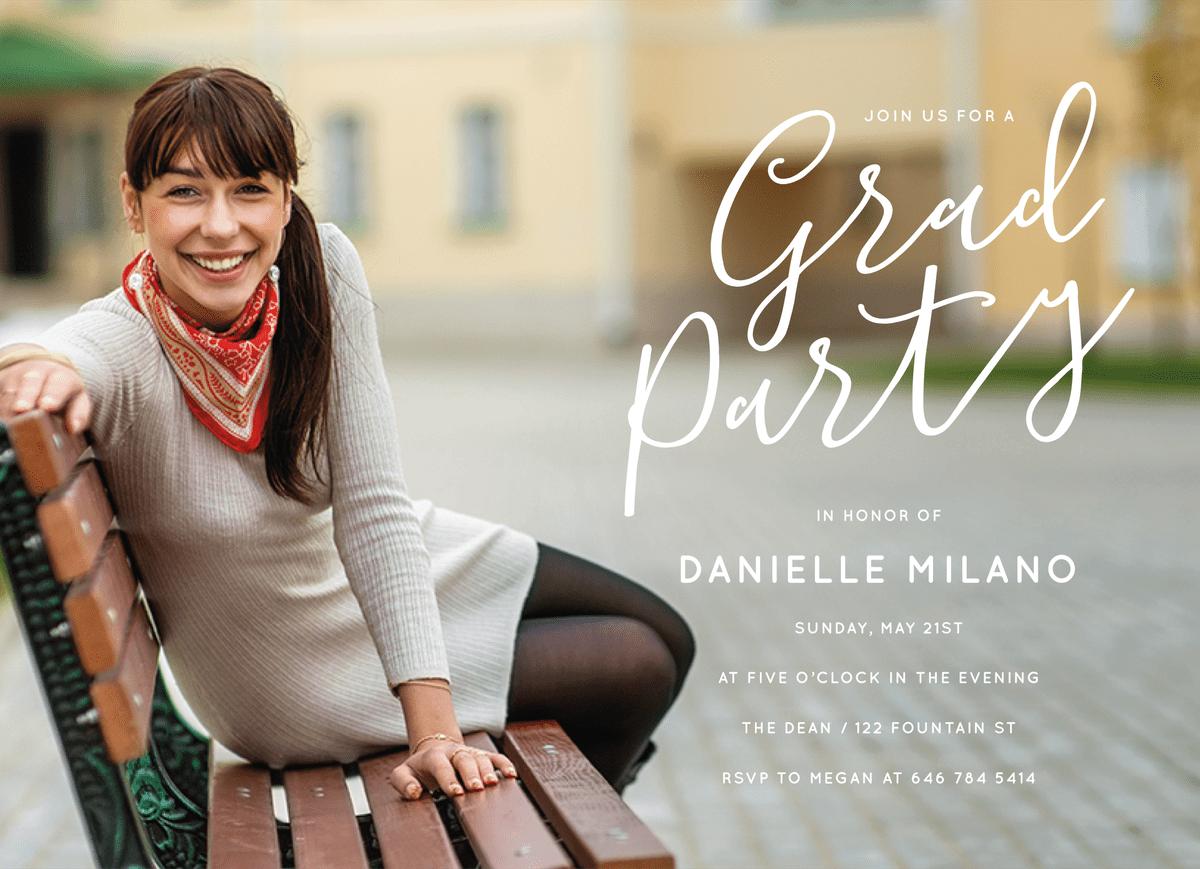 Grad Party Full Overlay