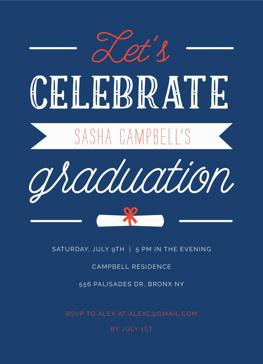 Let's Celebrate Grad