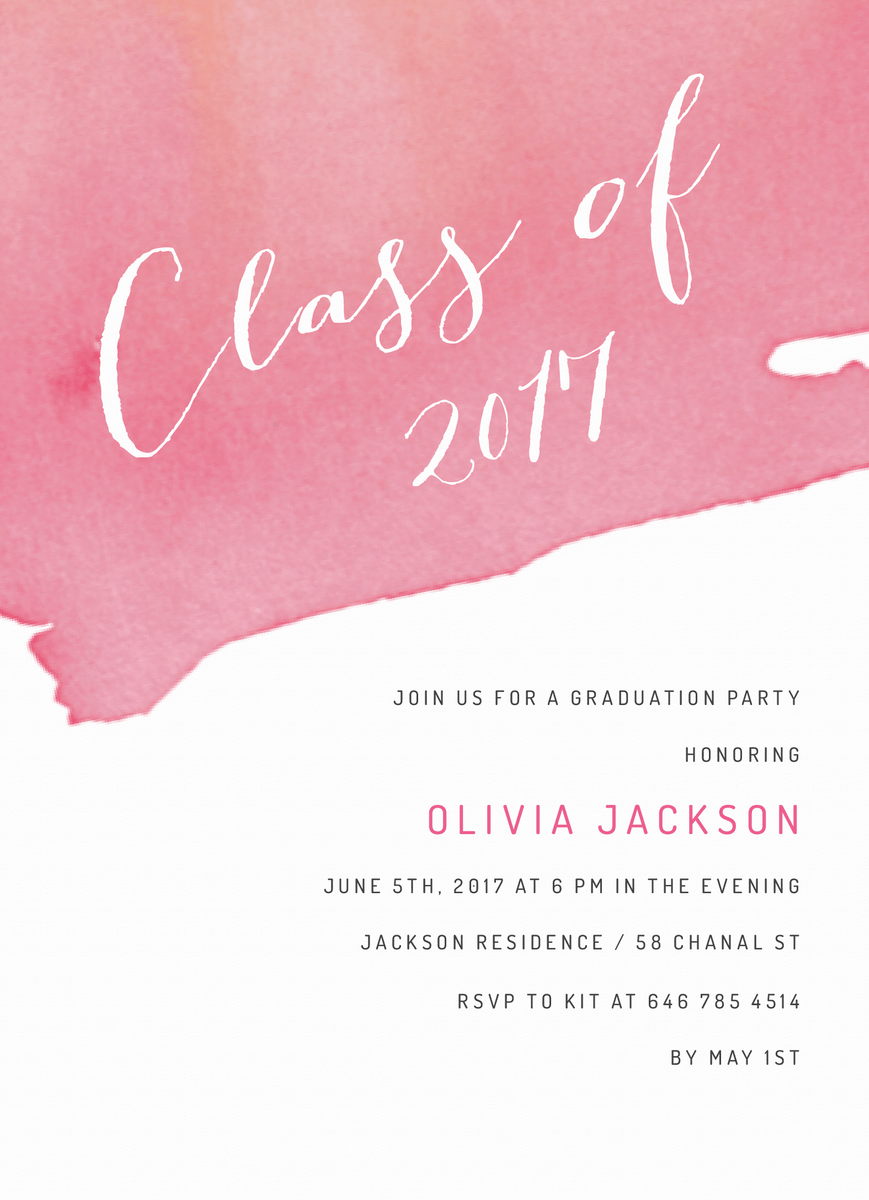 Graduation Watercolor Dip