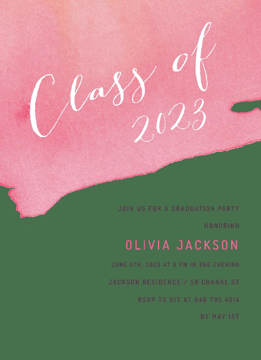 Graduation Watercolor Dip