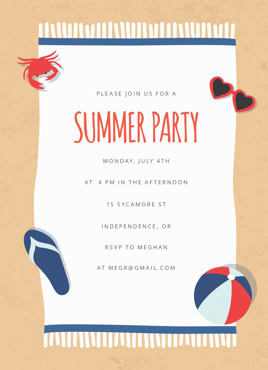 Beach Blanket Summer Party