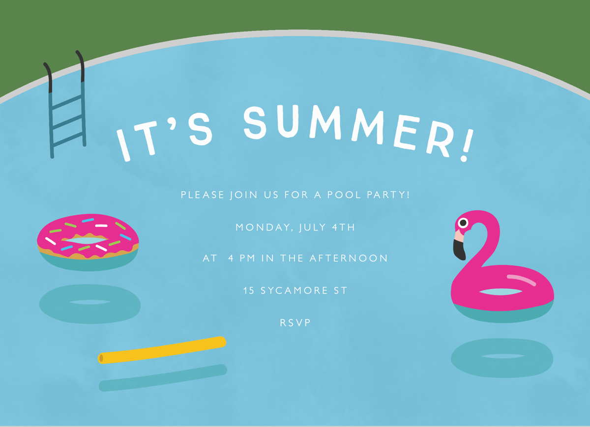 Pool Floats Summer Invite