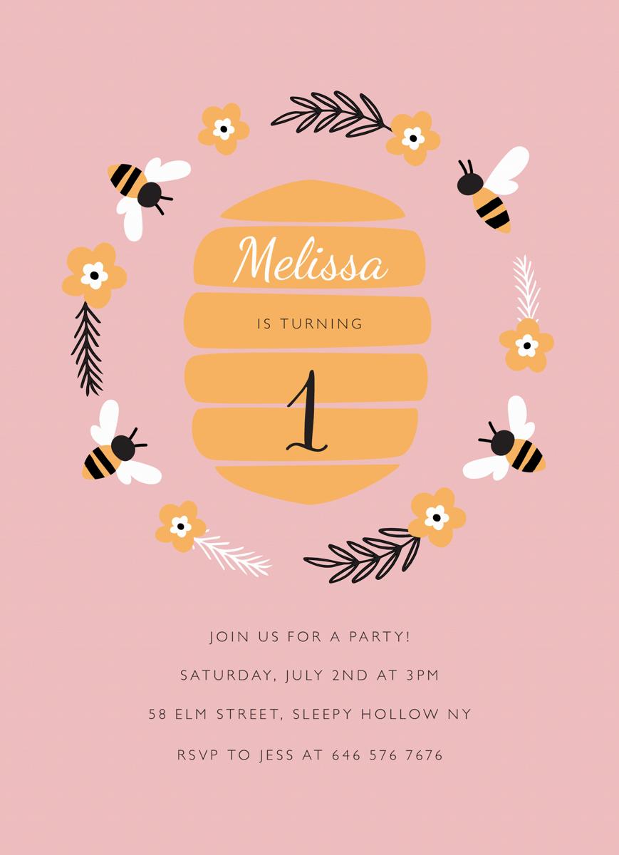 Beehive Party Invite