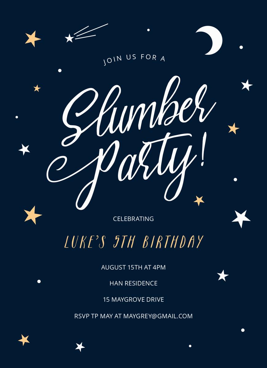 Night Sky Slumber Party