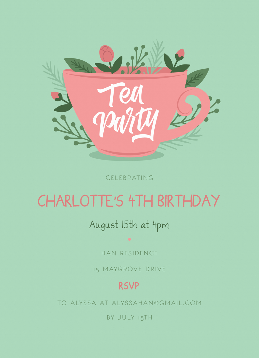 Rose Tea Party Birthday