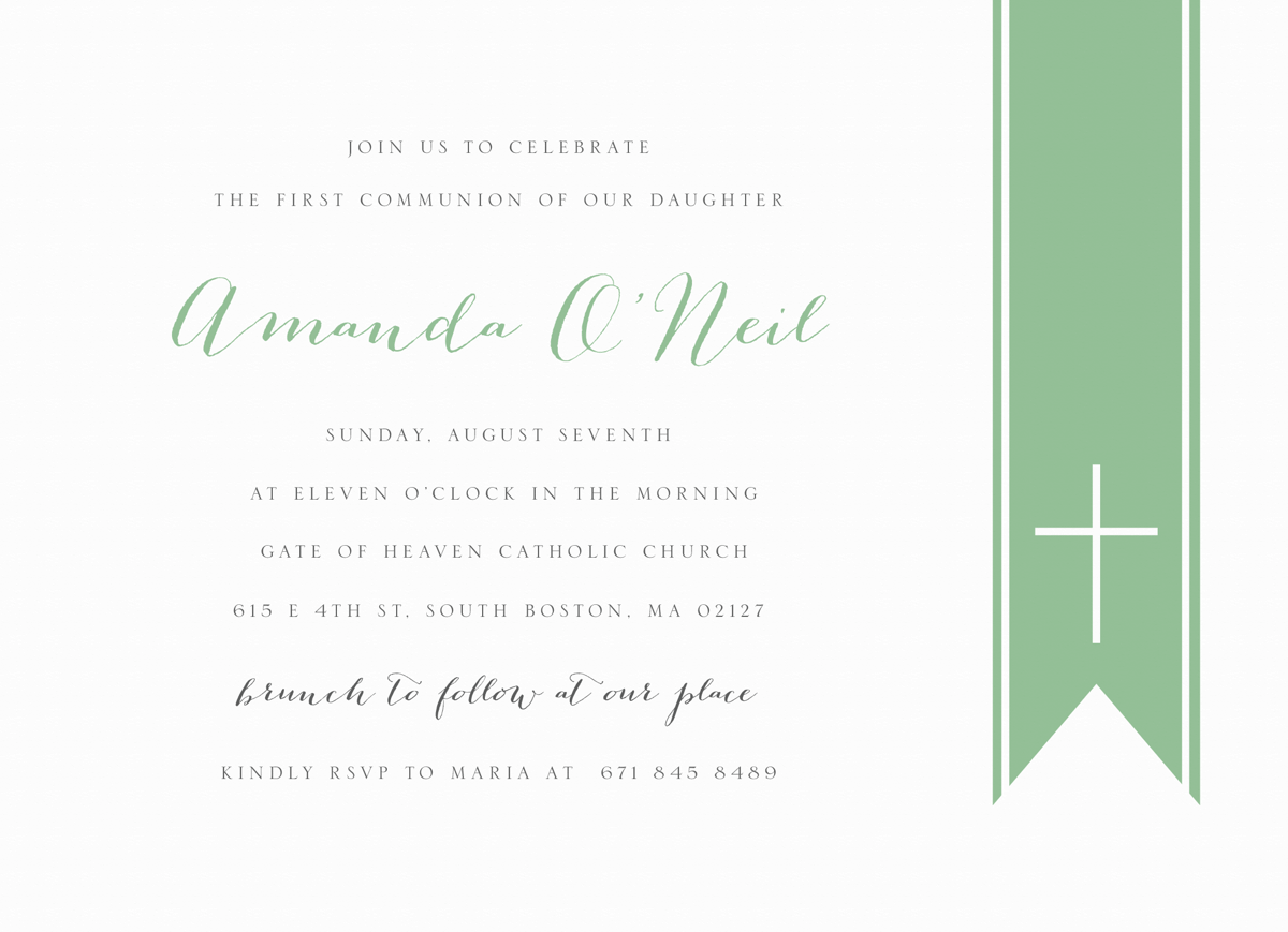 Classic Communion Invite