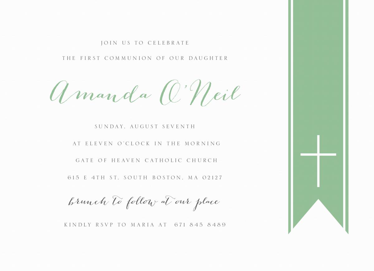 Classic Communion Invite