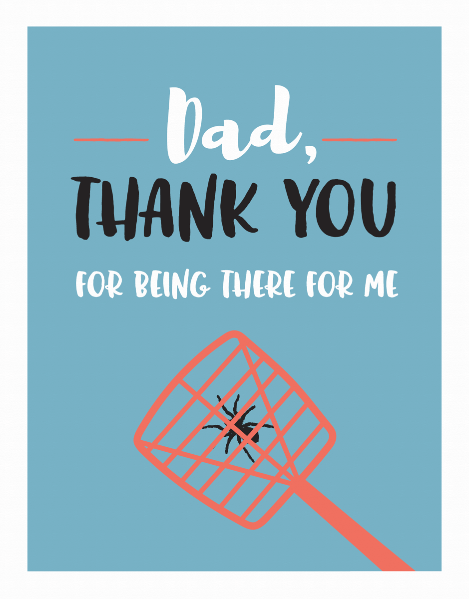 Killing Spiders Father's Day
