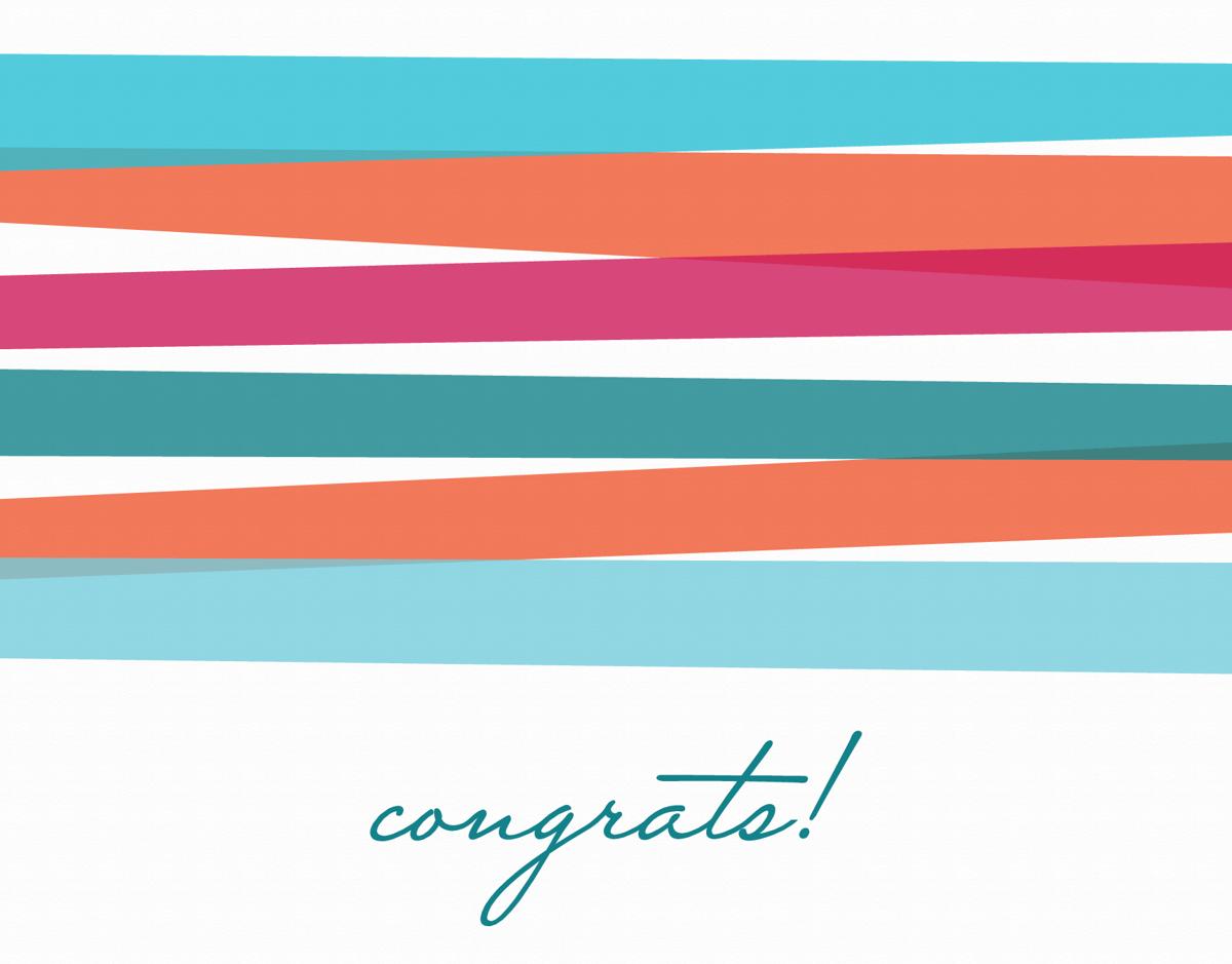 Congrats Bright Stripes