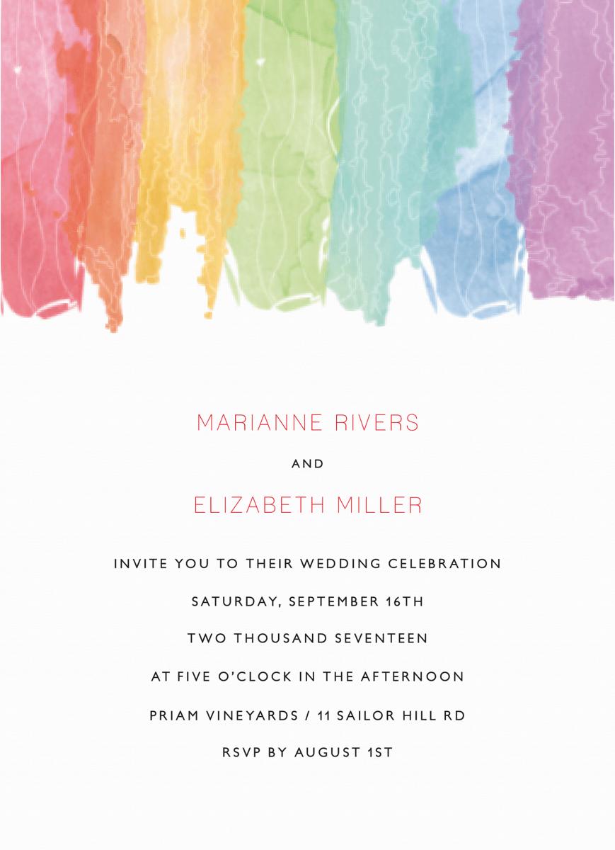 Watercolor Rainbow Wedding
