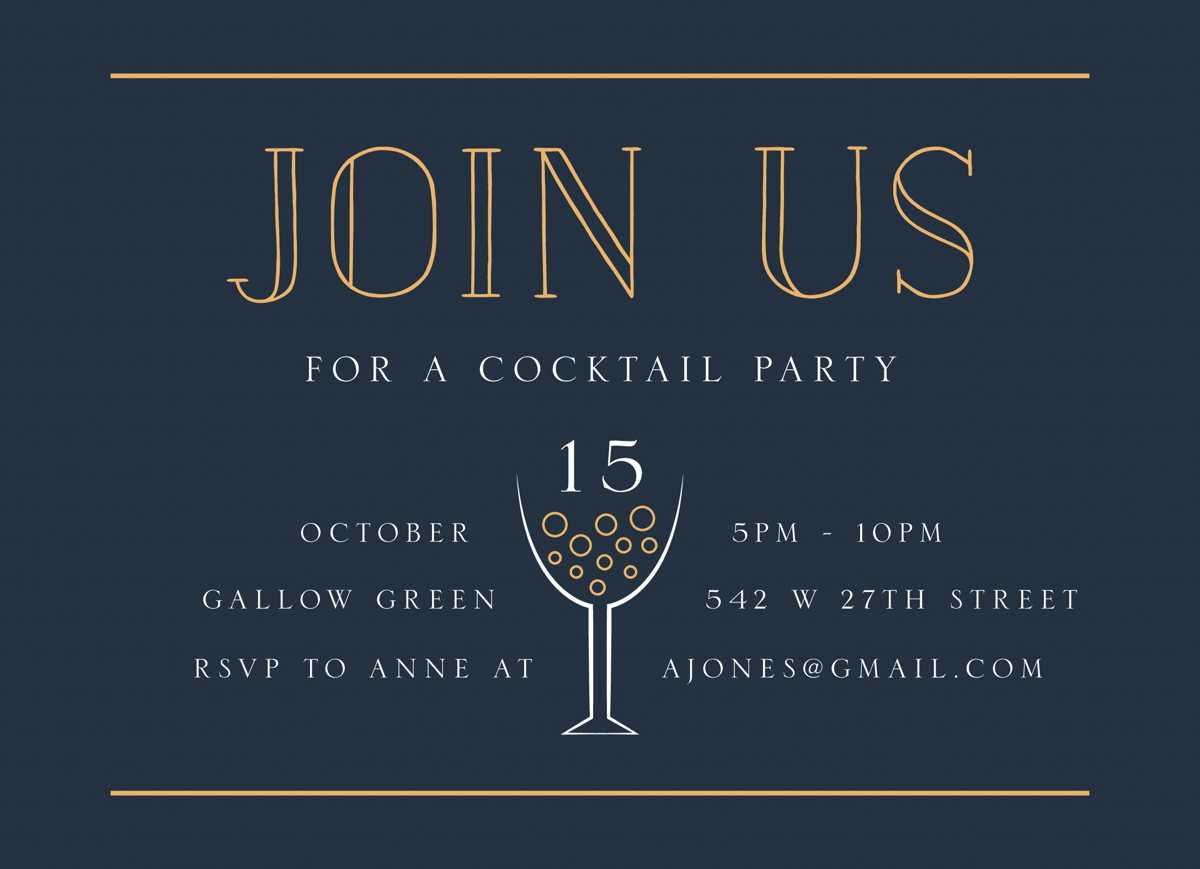 Join Us Cocktail Party
