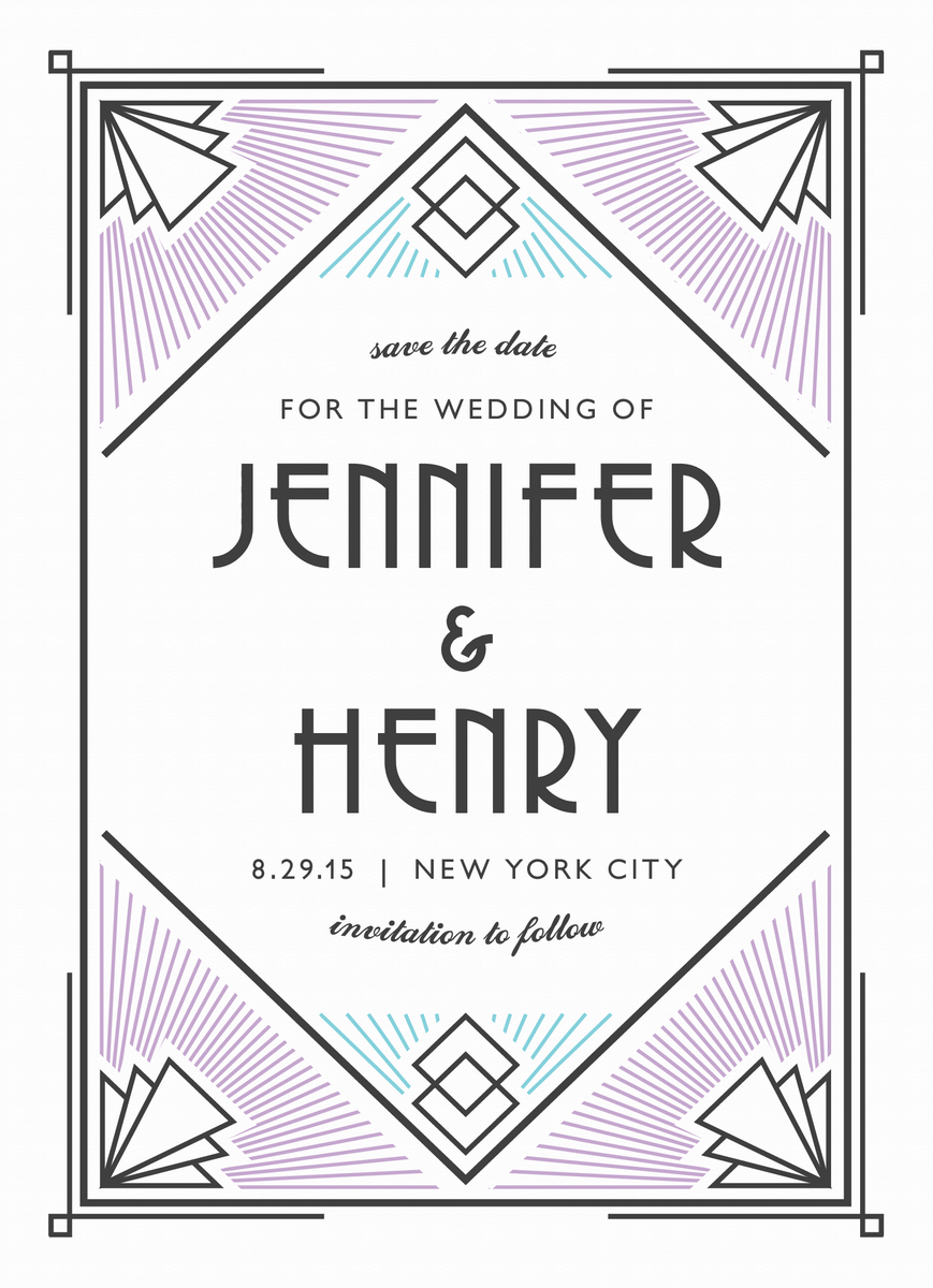 Modern Deco Save the Date