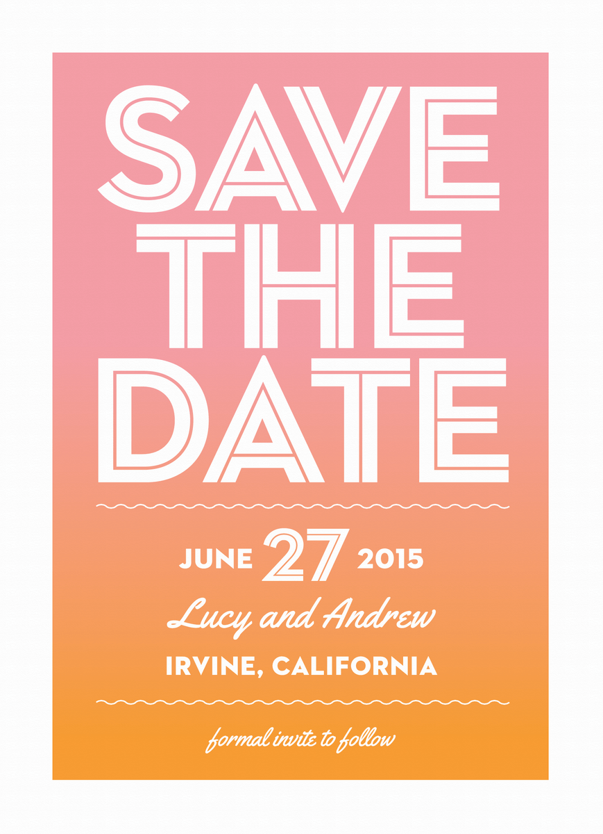 Ombre Save the Date