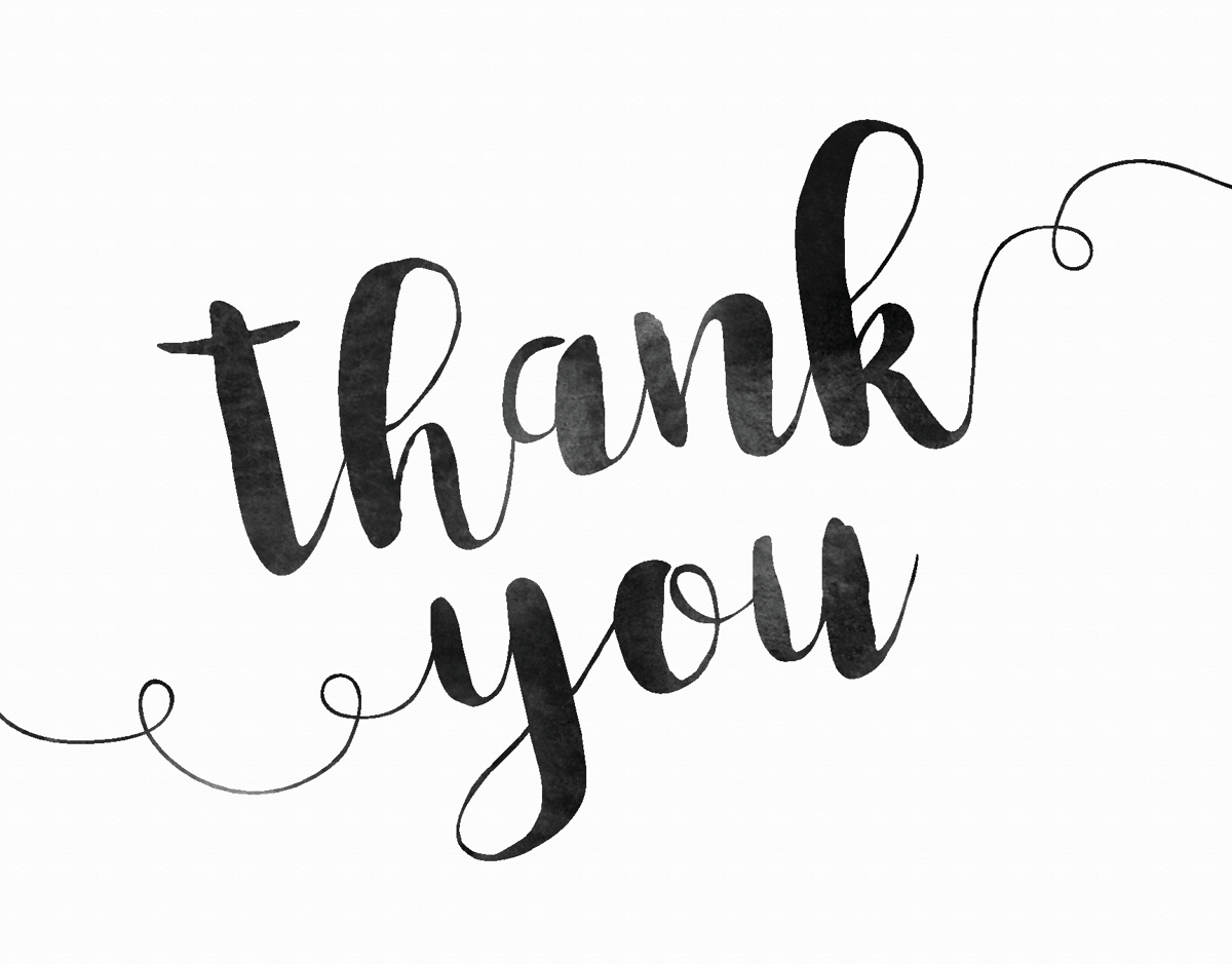 Thank You Watercolor Lettering