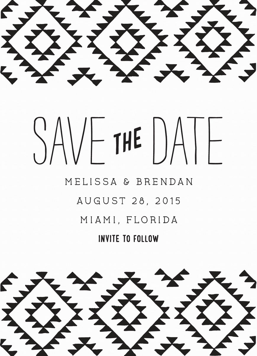 Kilim Save the Date