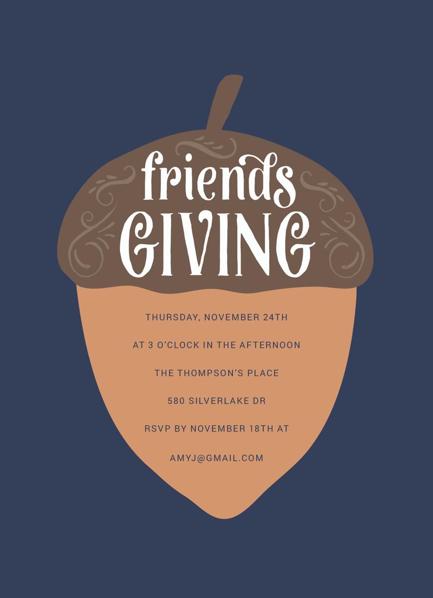 Friendsgiving Acorn Invite