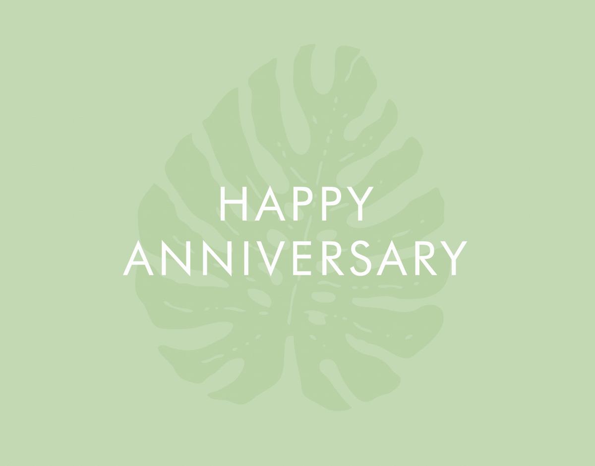 Anniversary Tropical Leaf