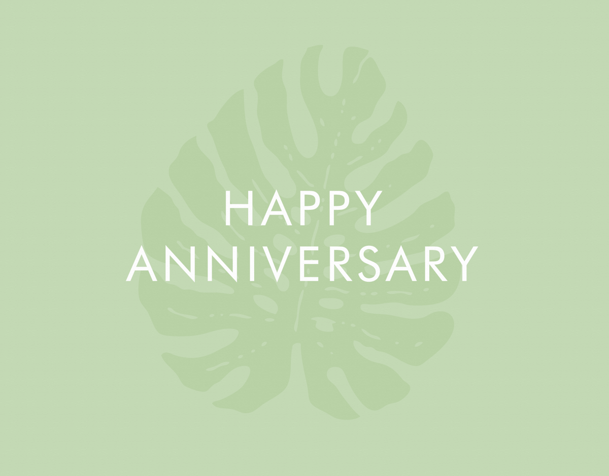 Anniversary Tropical Leaf