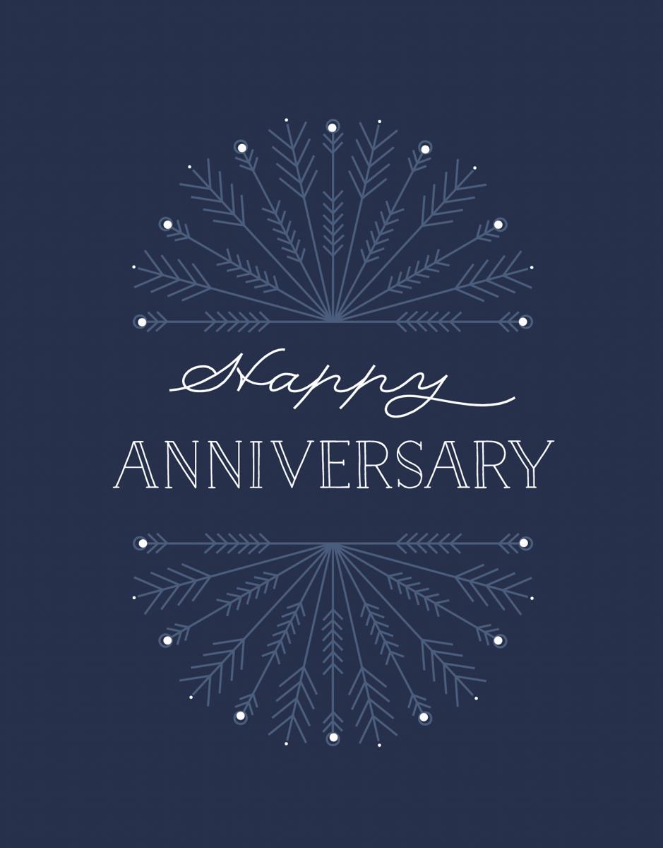 Happy Anniversary Snowflake