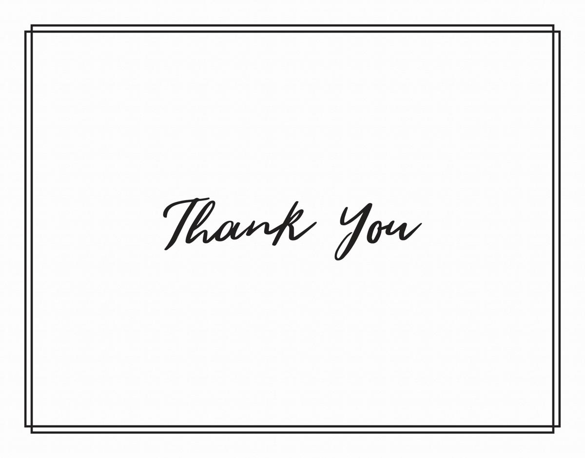Minimal Thank You