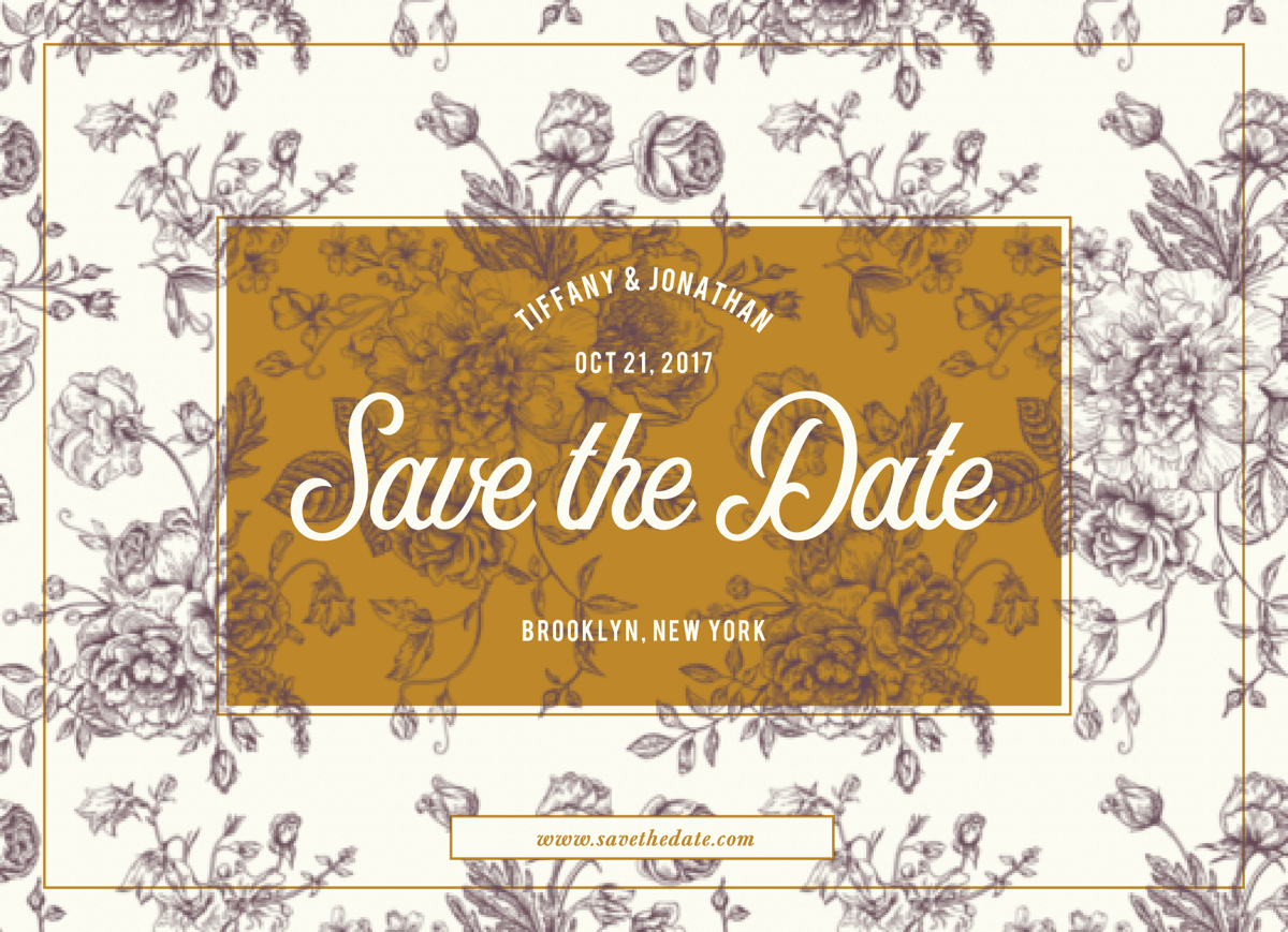 Victorian Save The Date