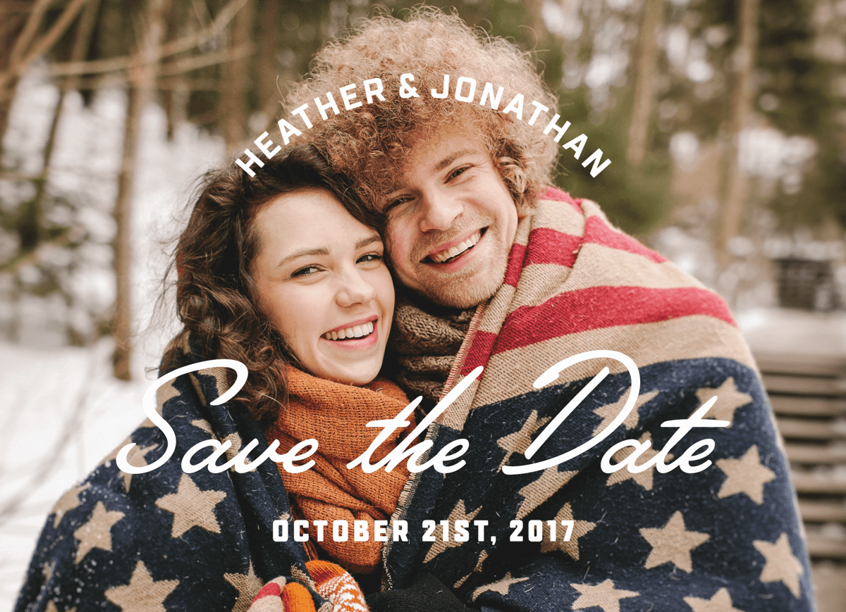 Simple Typography Save The Date
