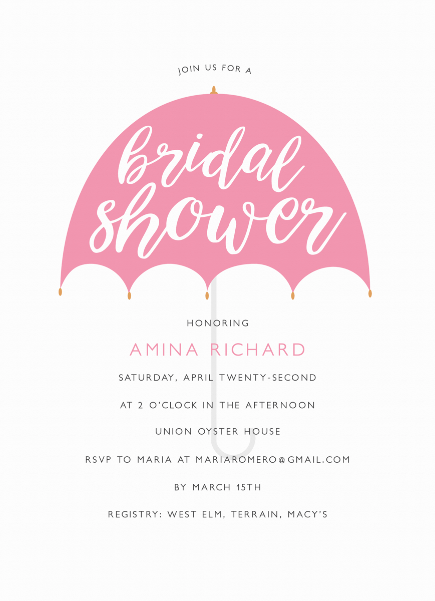 Umbrella Bridal Shower