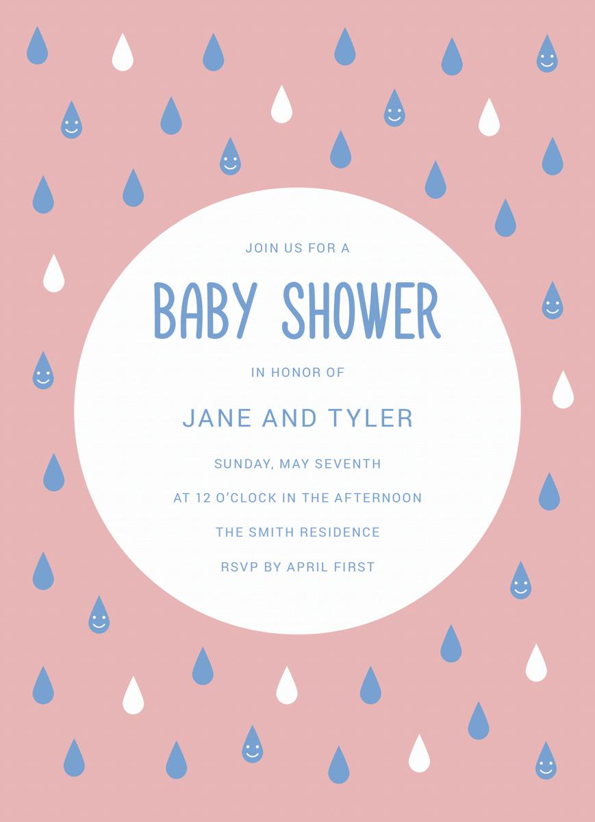 Baby Shower Rain Drops