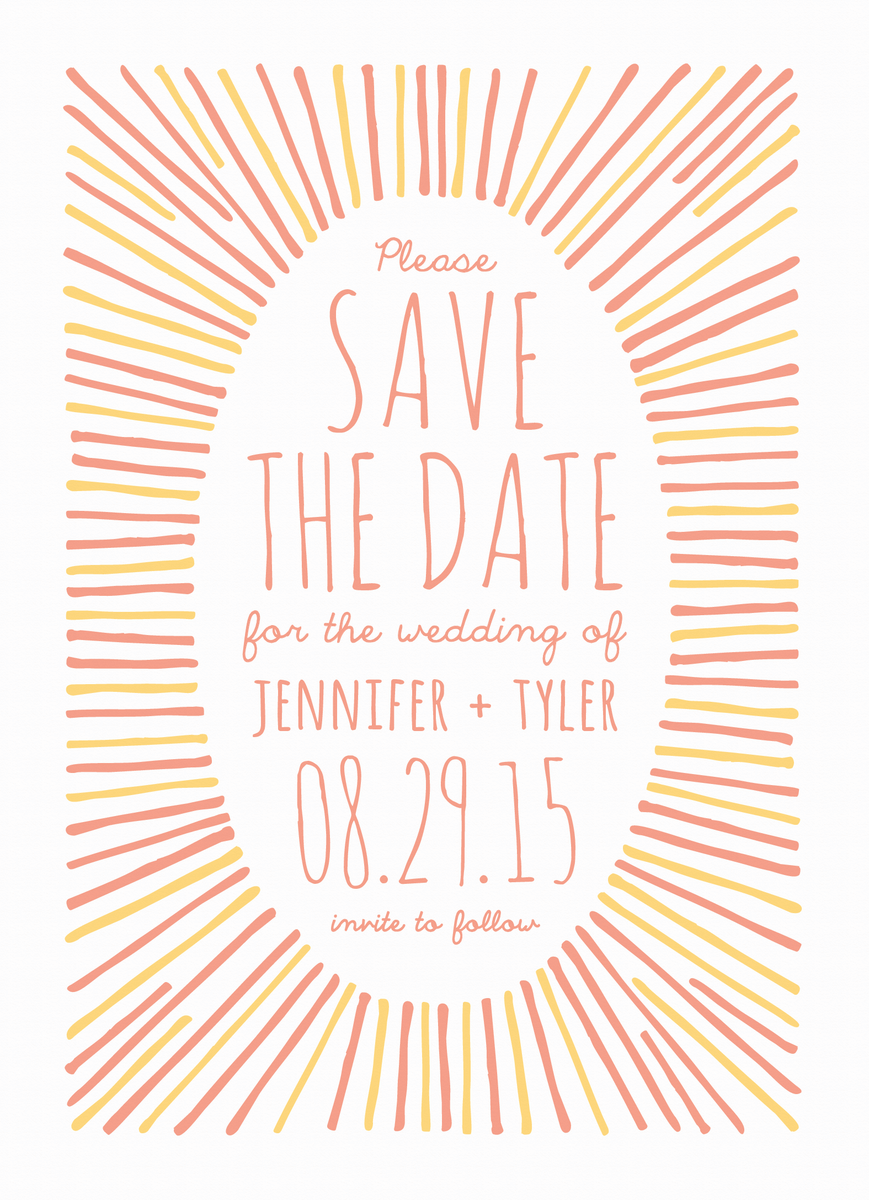 Sunburst Save the Date
