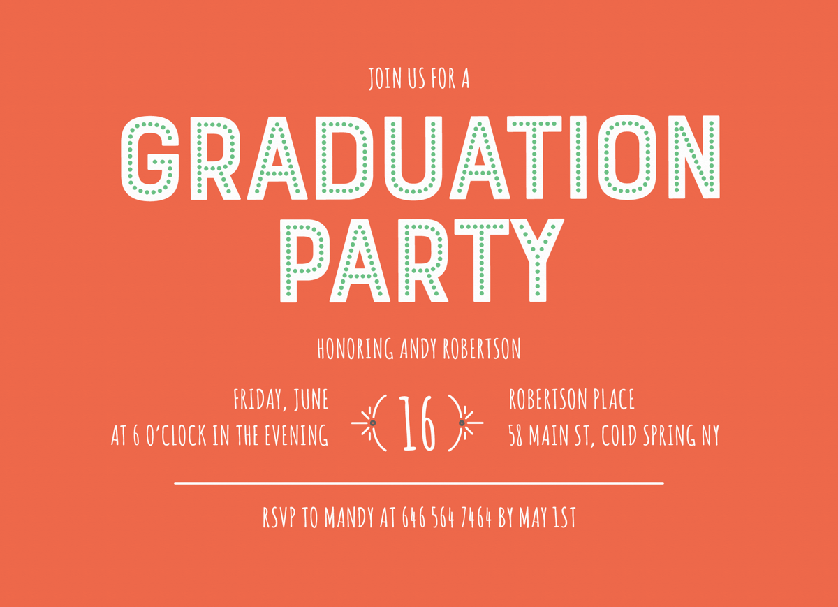 Red Graduation Party