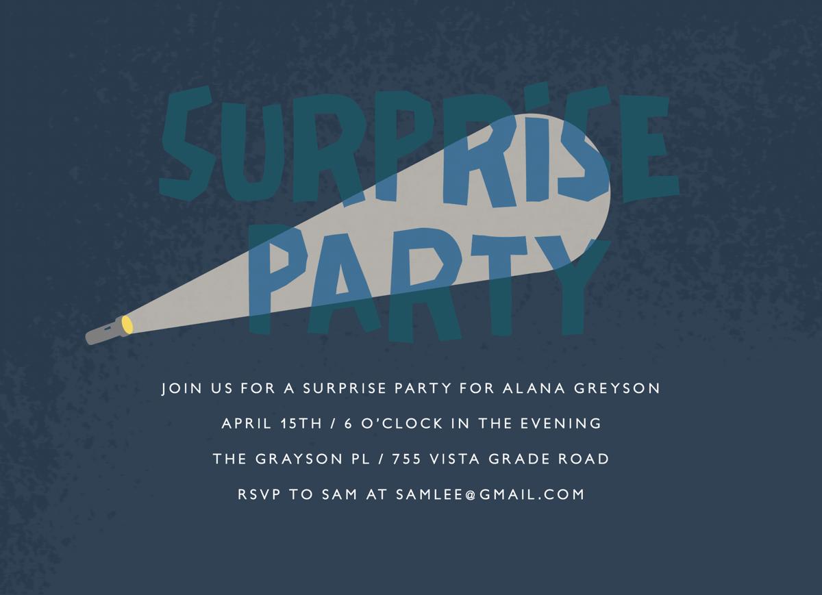 Surprise Party Flashlight