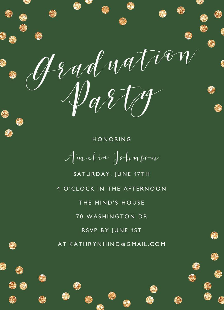 Confetti Graduation Party