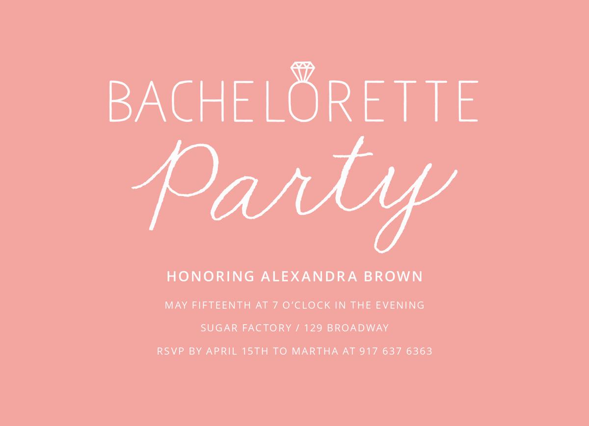 Pink Bachelorette Party