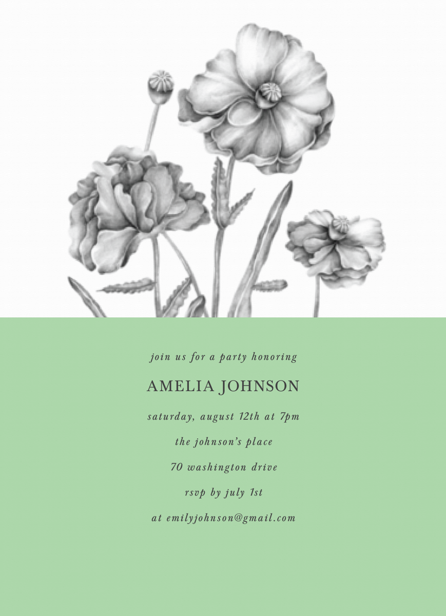 Poppy Party Invite
