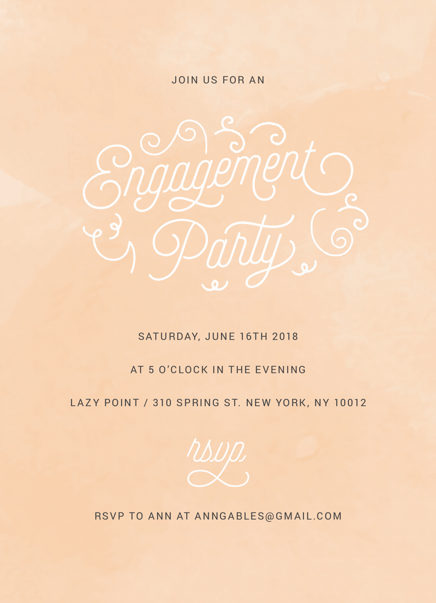 Blush Engagement Party
