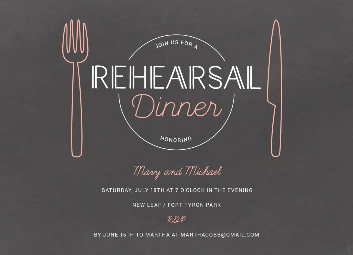 Rehearsal Dinner Invite