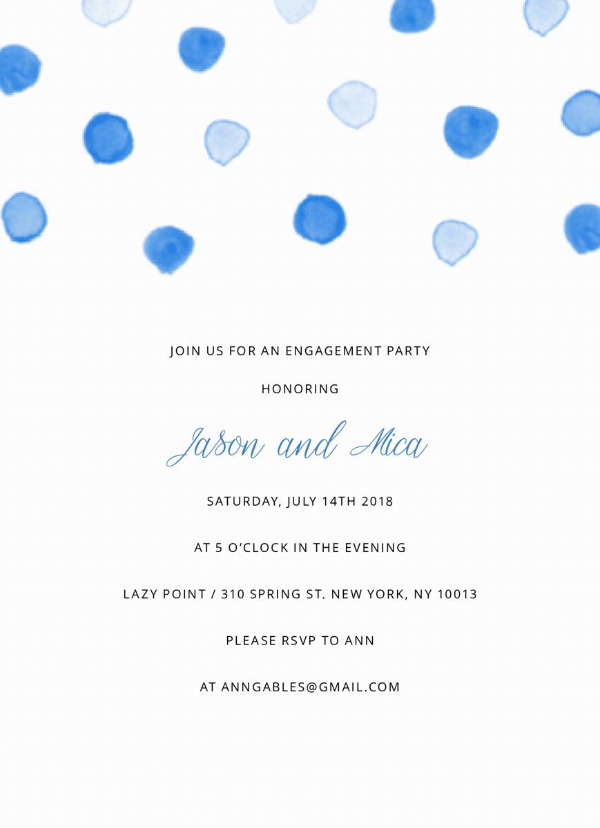 Blue Dots Engagement Party