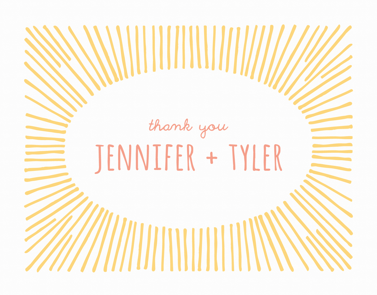 Sunburst Custom Thank You Card